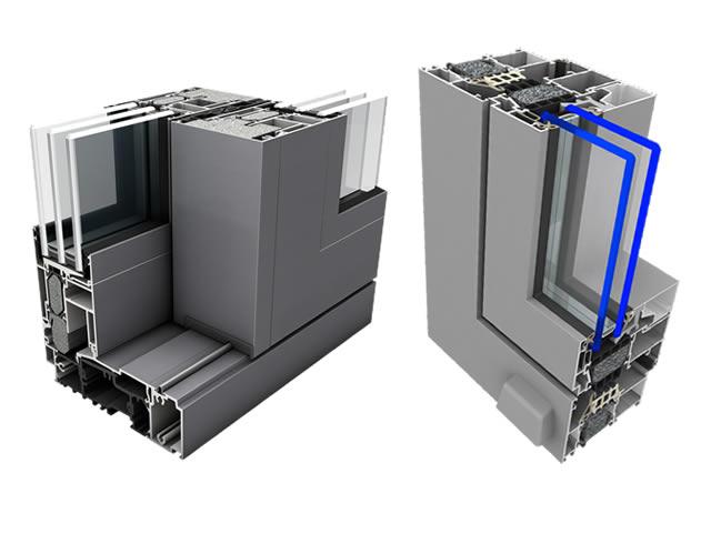 aluminiumfenster feuerschutzfenster und. Black Bedroom Furniture Sets. Home Design Ideas